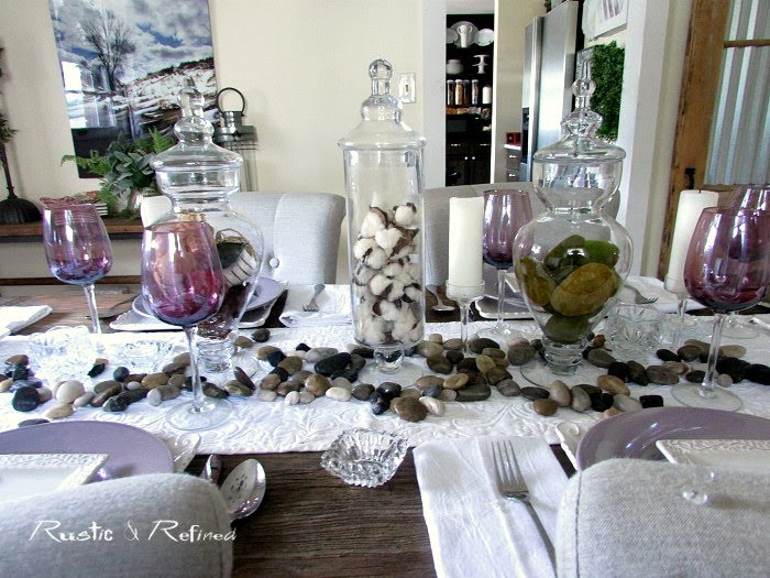 Entertaining family and friends with a Purple Summer Tablescape