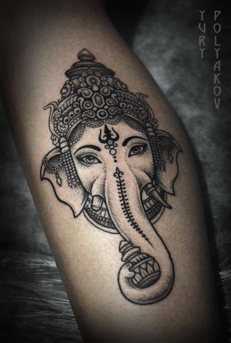 Imagen de un tatuaje de elefante