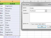 Cara Mencari Zodiak Menggunakan Excel