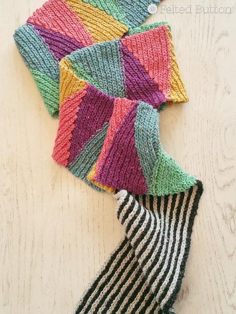 Short and Long Scarf -- free crochet pattern using Scheepjes Secret Garden yarn by Susan Carlson of Felted Button