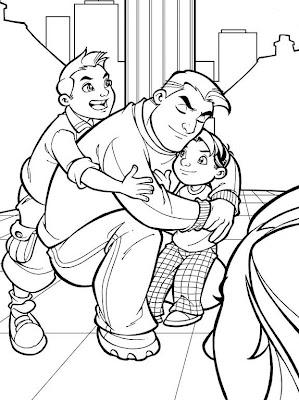 papá e hijos
