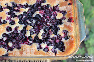 Blueberry Cobbler recipe from Served Up With Love