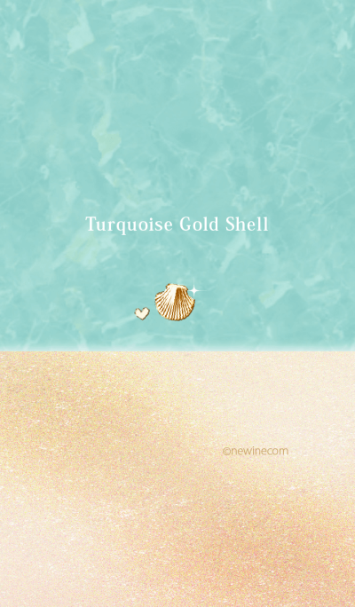 Turquoise Gold Shell