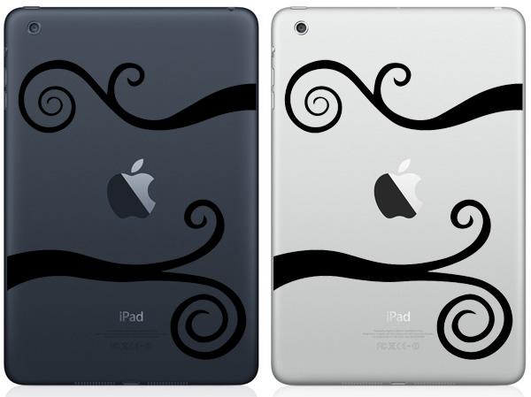 Wavy Srolls iPad Mini Decals