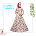 Gamis Misbee Tosca Red Motif Bunga - Rp 110.000