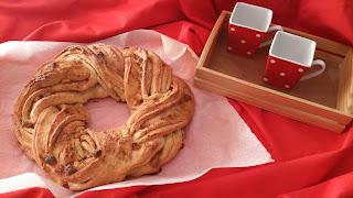 Estonian Kringle receta masa bonita chocolate blanco azúcar moreno mantequilla navidad navideña desayuno postre merienda cuca