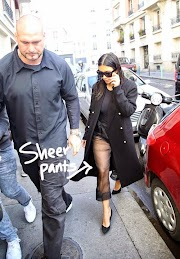Kim Kardashian Wears Sheer Pants With Wet Hair To Have Lunch With Rachel Zoe