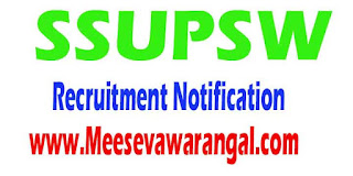 SSUPSW (State Society for Ultra Poor and Social Affairs) Recruitment Notification 2016 www.sids.co.in