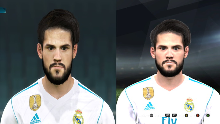 PES 2017 ISCO From PES 2018 Face by Abdo Mohamed Facemaker
