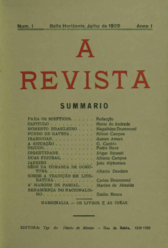 Carlos Drummond de Andrade e o tempo das revistas