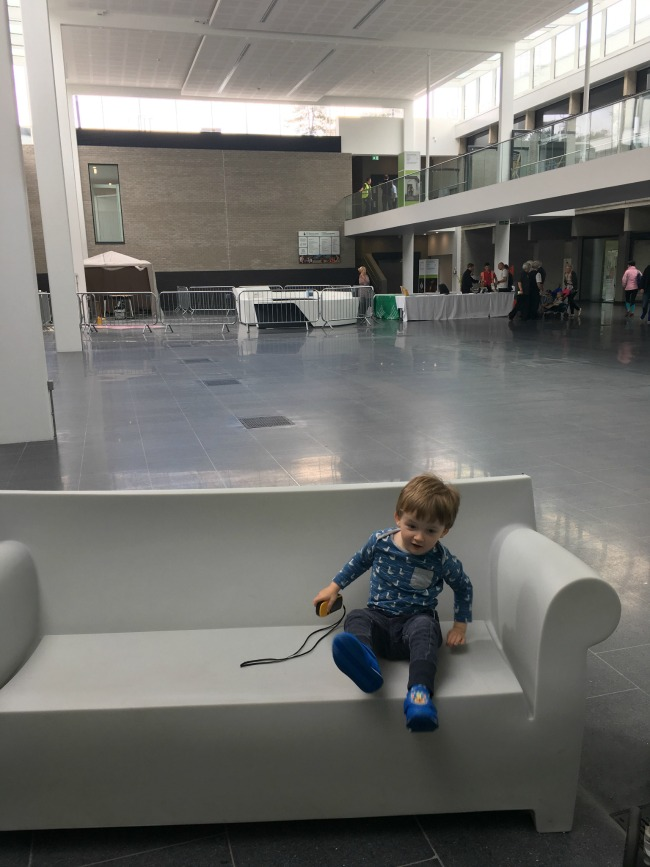 our-weekly-journal-14th-august-2017-going-potty-toddler-sat-on-sofa-in-entrance-lobby-at-st-fagans-museum