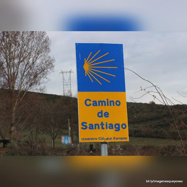 Camino de Santiago por tierras de León. Peregrinos y viandas.Camino de Santiago in León lands. Pilgrims and viands