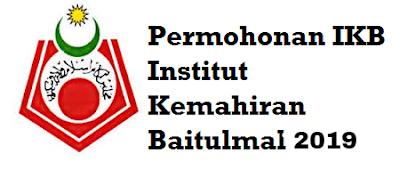 Permohonan IKB 2019/2020 Online Institut Kemahiran Baitulmal