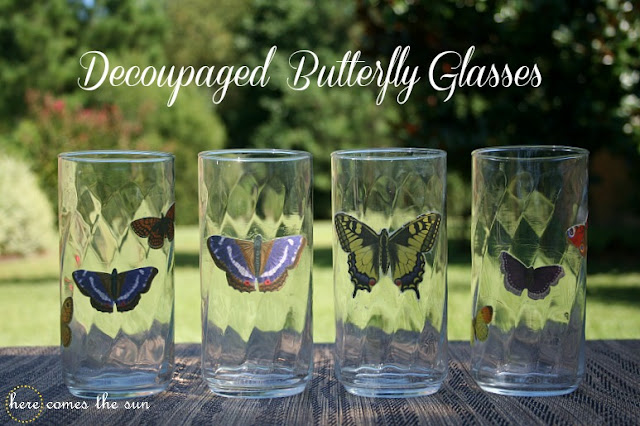 How to Make Decoupaged  Glasses