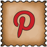 pinterest stamp icon
