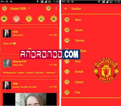 BBM Mod Manchester United (MU) v3.0.1.25 Apk Terbaru