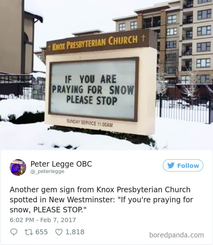 30 Humorous Church Signs That Made Us Laugh And Think At The Same Time
