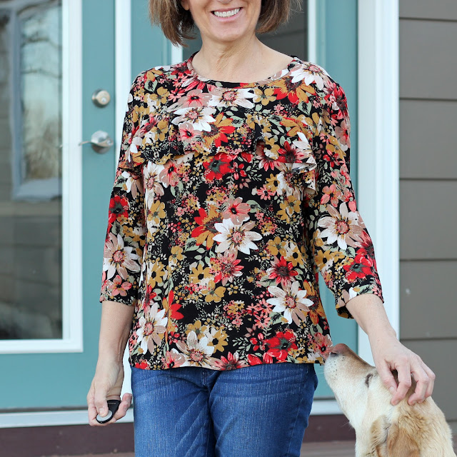 Simplicity 8454 in Style Maker Fabrics' rayon crepe
