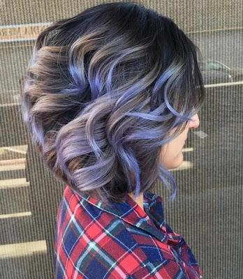 model rambut warna abu-abu elegan pendek