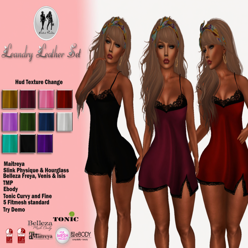 41e545b3f6 Jewelstyle Second Life  NEW! - . H.F SWEET NIGHT LINGERIE (HUD ...