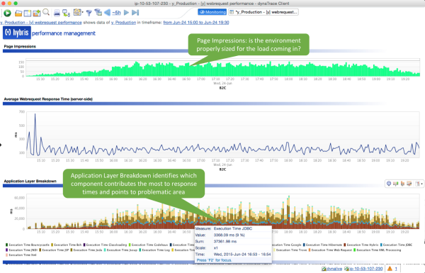 Dynatrace Application Monitoring tool for Hybris