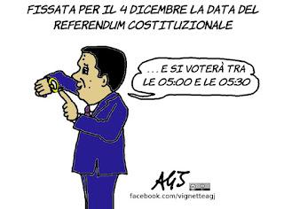4 dicembre, riforme, referendum costituzionale, renzi, vignetta, satira