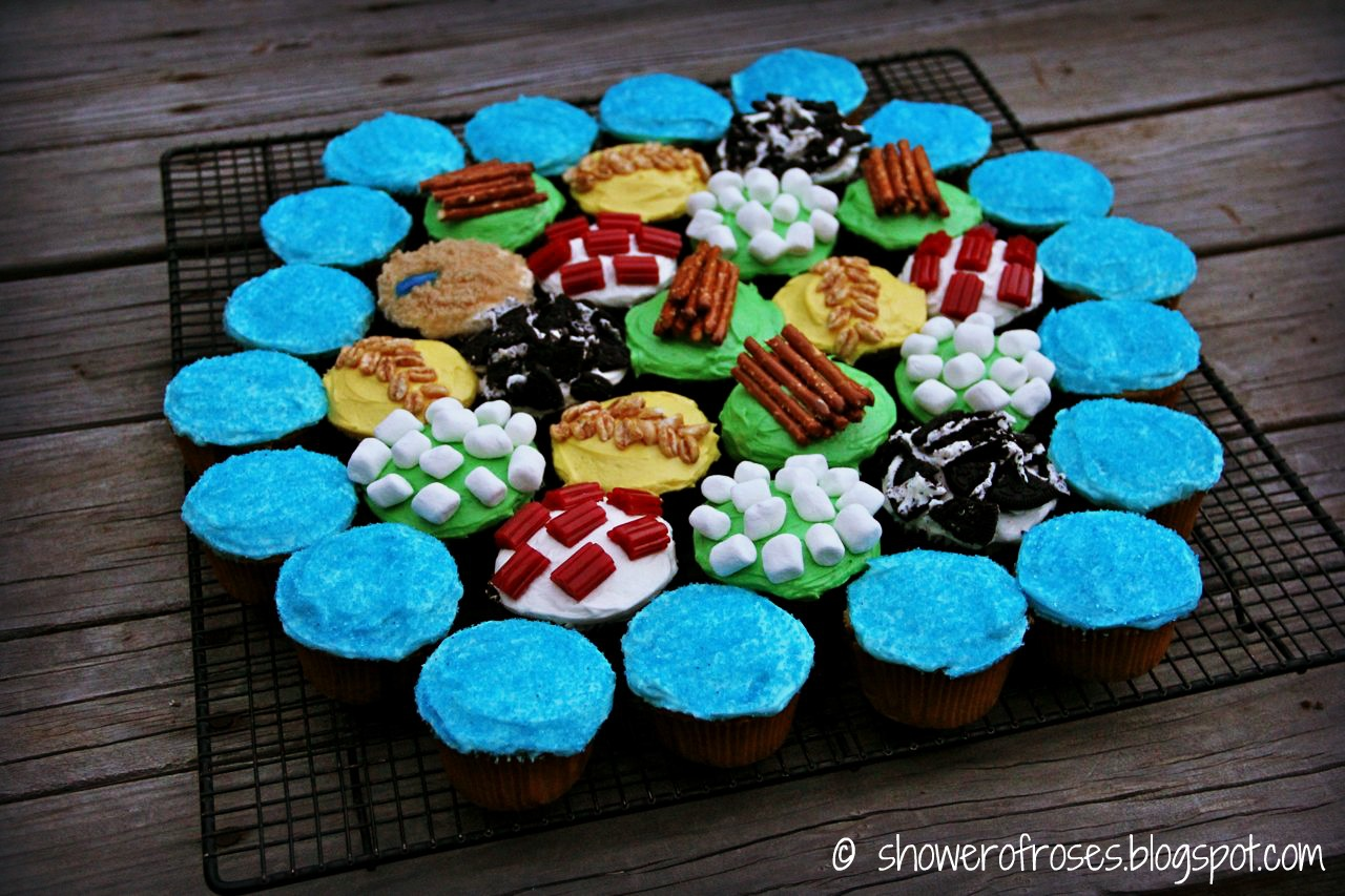 Shower Of Roses Cupcakes Of Catan