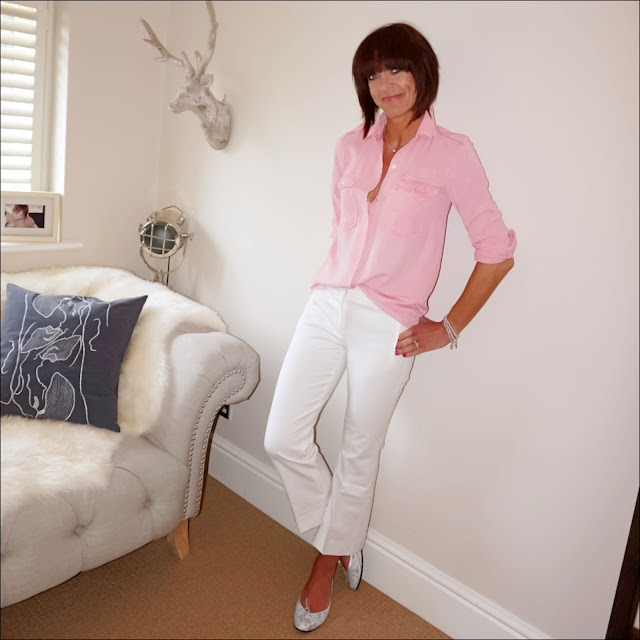 my midlife fashion, zara military shirt, j crew sammie cropped kick flare trousers, french sole snake print ballet pumps