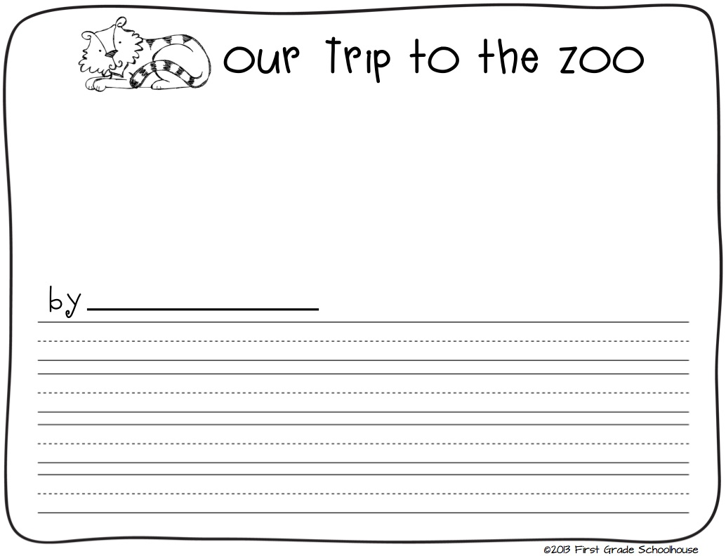 first grade schoolhouse zoo animals writing and field trip. Black Bedroom Furniture Sets. Home Design Ideas