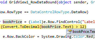 Gridview Find Control Value On Rowdatabound In Asp Net Using C Net And Vb Net Asp Netmvcc Netvb Netwindows Applicationwpfjavascriptjqueryhtml
