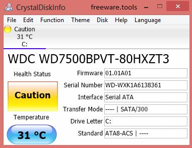 Freeware Tools: CrystalDiskInfo 6 7 5