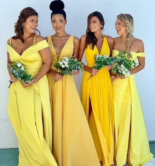 vestido amarelo para madrinha de casamento