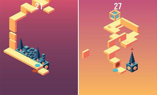 تبدو هذه اللّعبة –للوهلة الأولى-شبيهة باللّعبة الشهيرة Monument Valley، لكن مع الوقت سوف ترى الفارق بنفسك.  حيث أنّ هذه اللعبة تتكون من دائرتين (دائرة ورقاء، ودائرة حمراء) ويجب عليك أنّ تتخطى بهم السلالم