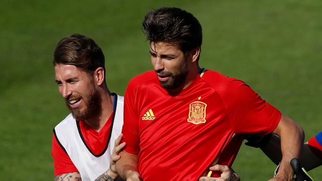 Sergio Ramos dan Pique