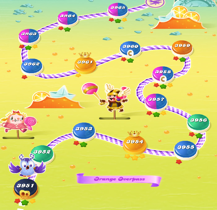 Candy Crush Saga level 3951-3965