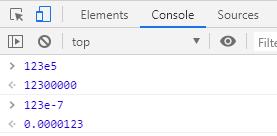 tipe data eksponen pada javascript