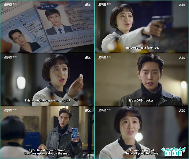 seol woo connect the tracking device with do ha phone - Man To Man: Episode 10 korean drama