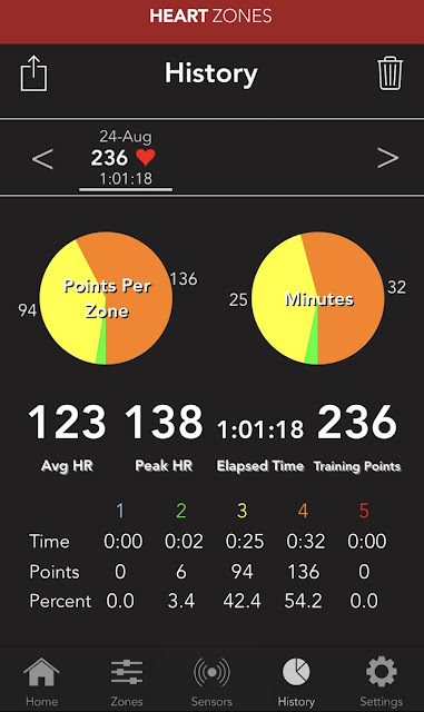 heart zones blink product review fitness activity app wearables tech fitness running wellness heart rate monitor fitness tracker step counter cadence calories tracker