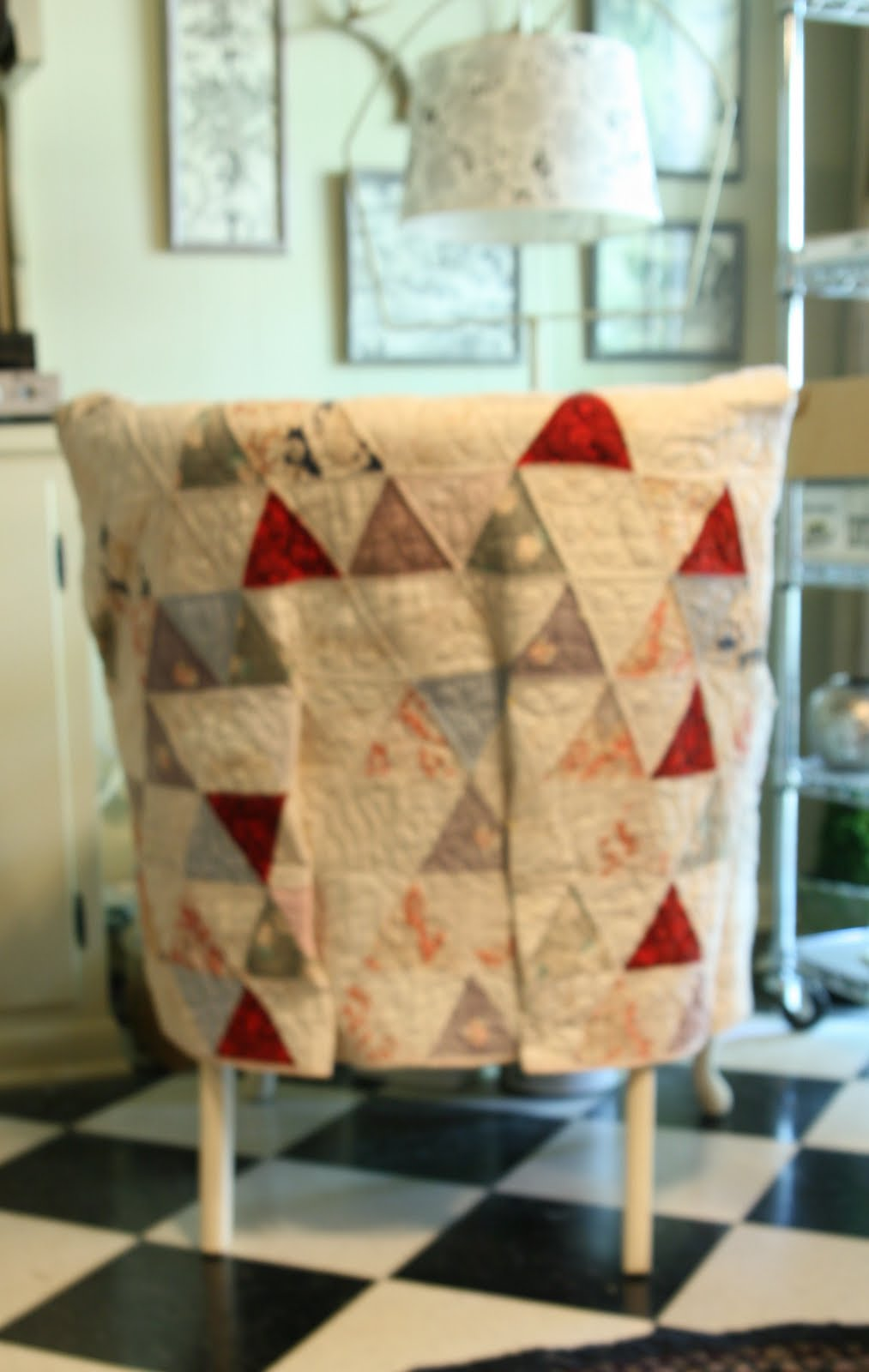 Quilt Slipcover Chair