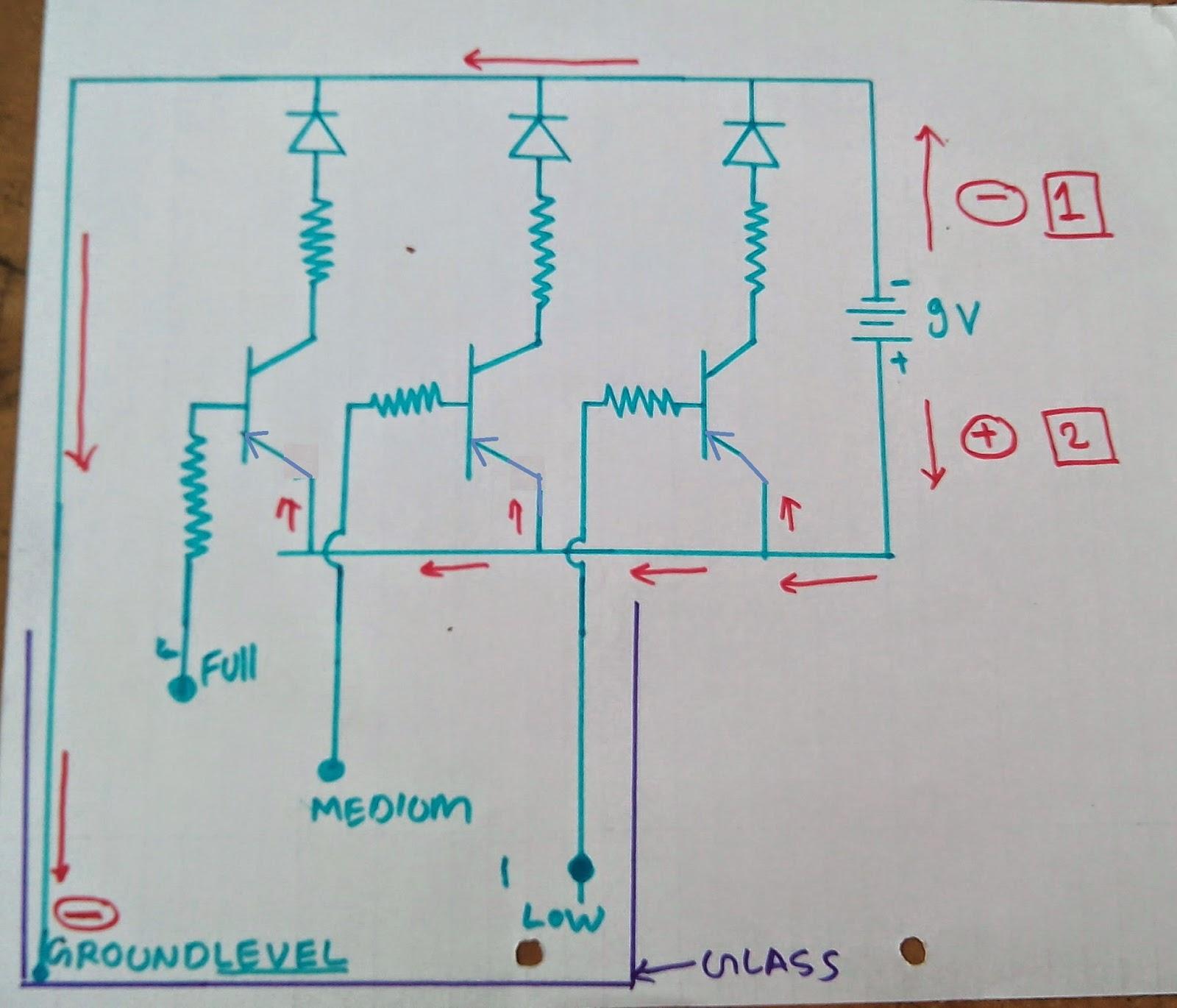 Water Level Indicator Darkactivated Buzzer Circuit Schematic Step 2