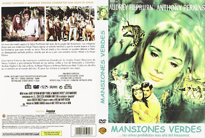 Carátula dvd:Mansiones verdes (1959) Green Mansions