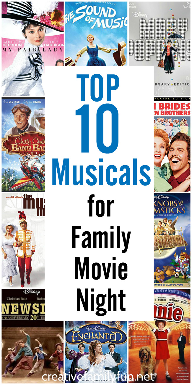 Here are the 10 ten musicals for a fun family movie night.