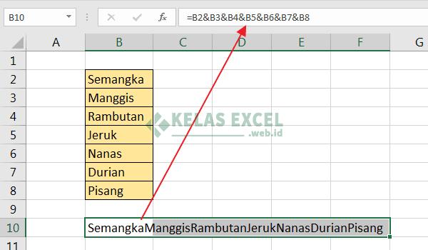 Cara Menggabungkan Data Excel