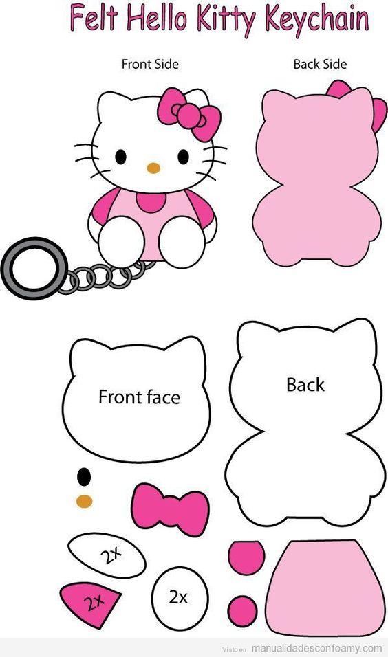 muñecos de hello kitty con patrones