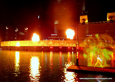 The Dubai Fountain Fire 1