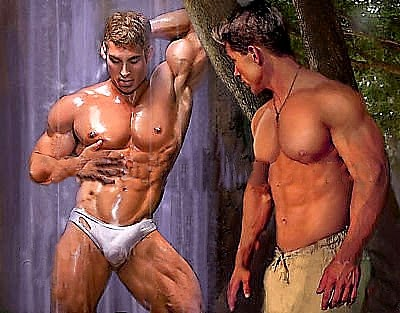 Doyle recommend best of muscle men gay 3d
