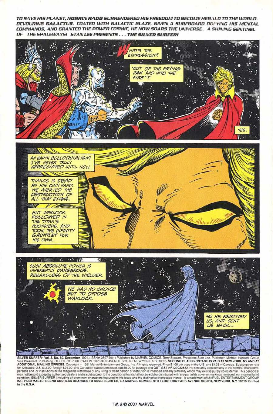 Read online Silver Surfer (1987) comic -  Issue #60 - 3