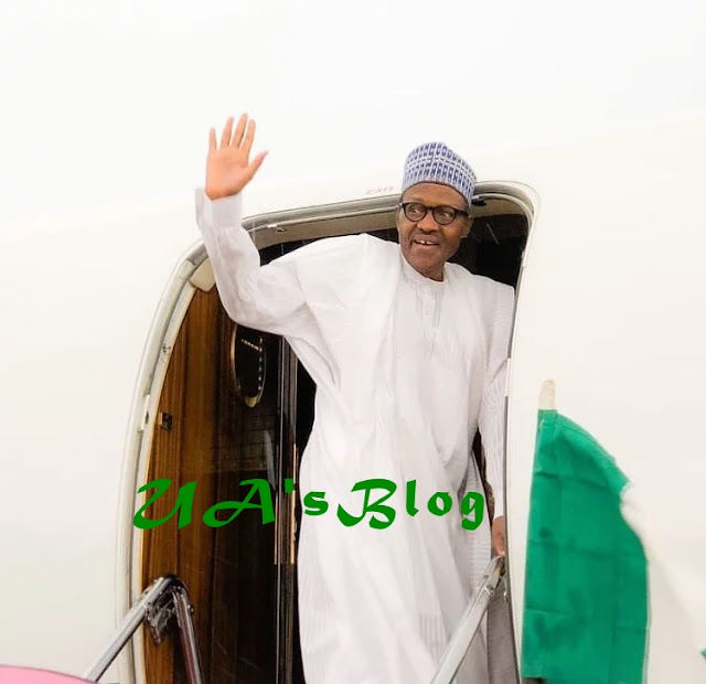 Buhari jets out of Abuja