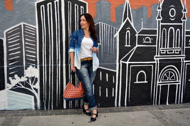 bolsa poá uncle k, bolsa dot canvas uncle k, uncle k ribeirão shopping, sapato estilo boneca, look all jeans, look total jeans, blog camila andrade, camila andrade, fashion blogger em ribeirão preto, blogueira de moda em ribeirão preto
