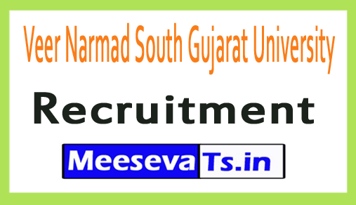 Veer Narmad South Gujarat University VNSGU Recruitment